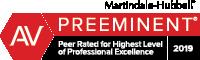 Jarrad C Miller Martindale-Hubbell badge Preeminent