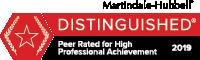 Kirk C Johnson Martindale-Hubbell badge Distinguished