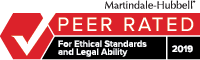 Robertson, Johnson, Miller & Williamson firm badge from Martindale-Hubbell - Peer Rated